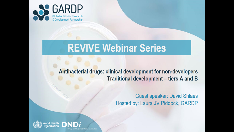 <br>Antibacterial drugs: Clinical development for non-developers </br> Part 1: Traditional development &#8211; tiers A and B
