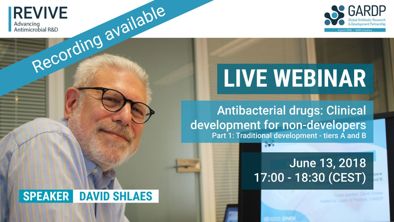 <br>Antibacterial drugs: Clinical development for non-developers </br> Part 1: Traditional development – tiers A and B