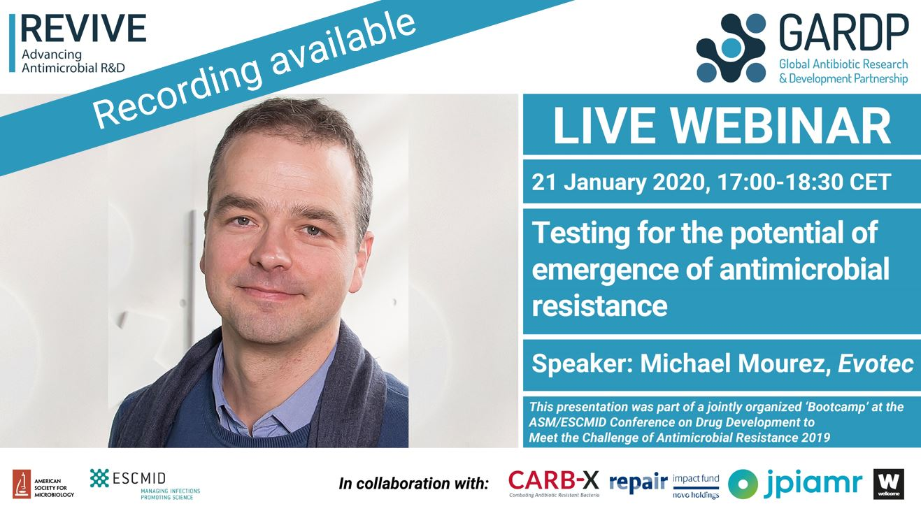 Testing for the potential of emergence of antimicrobial resistance