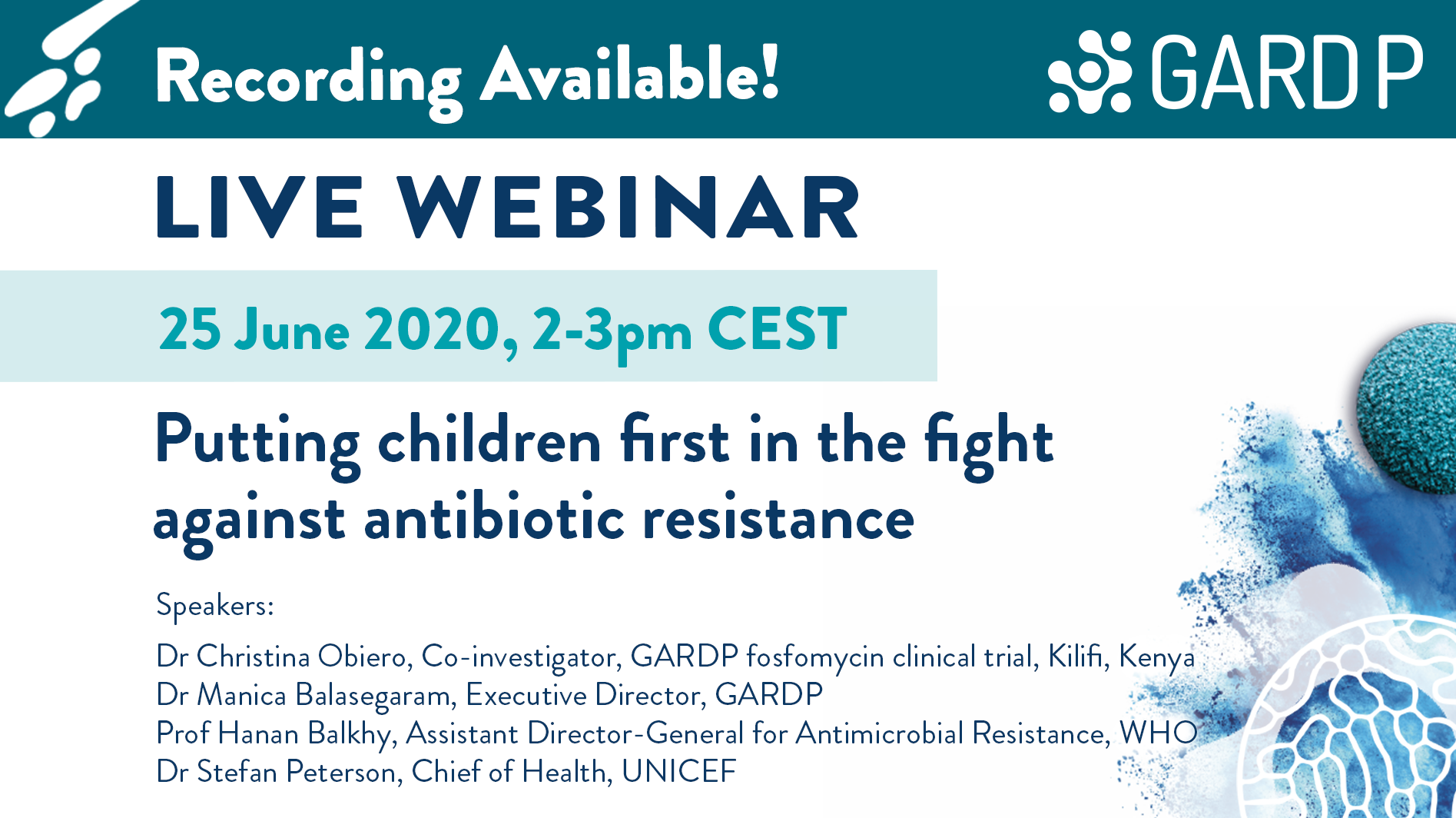 Putting children first in the fight against antibiotic resistance