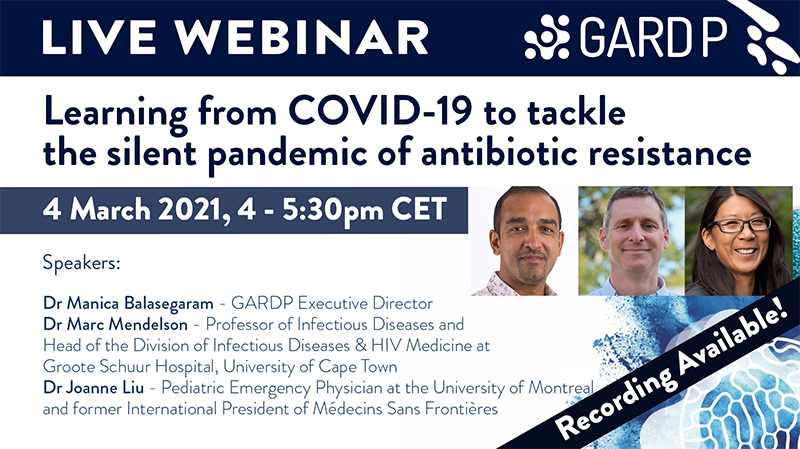 Learning from COVID-19 to tackle the silent pandemic of antibiotic resistance