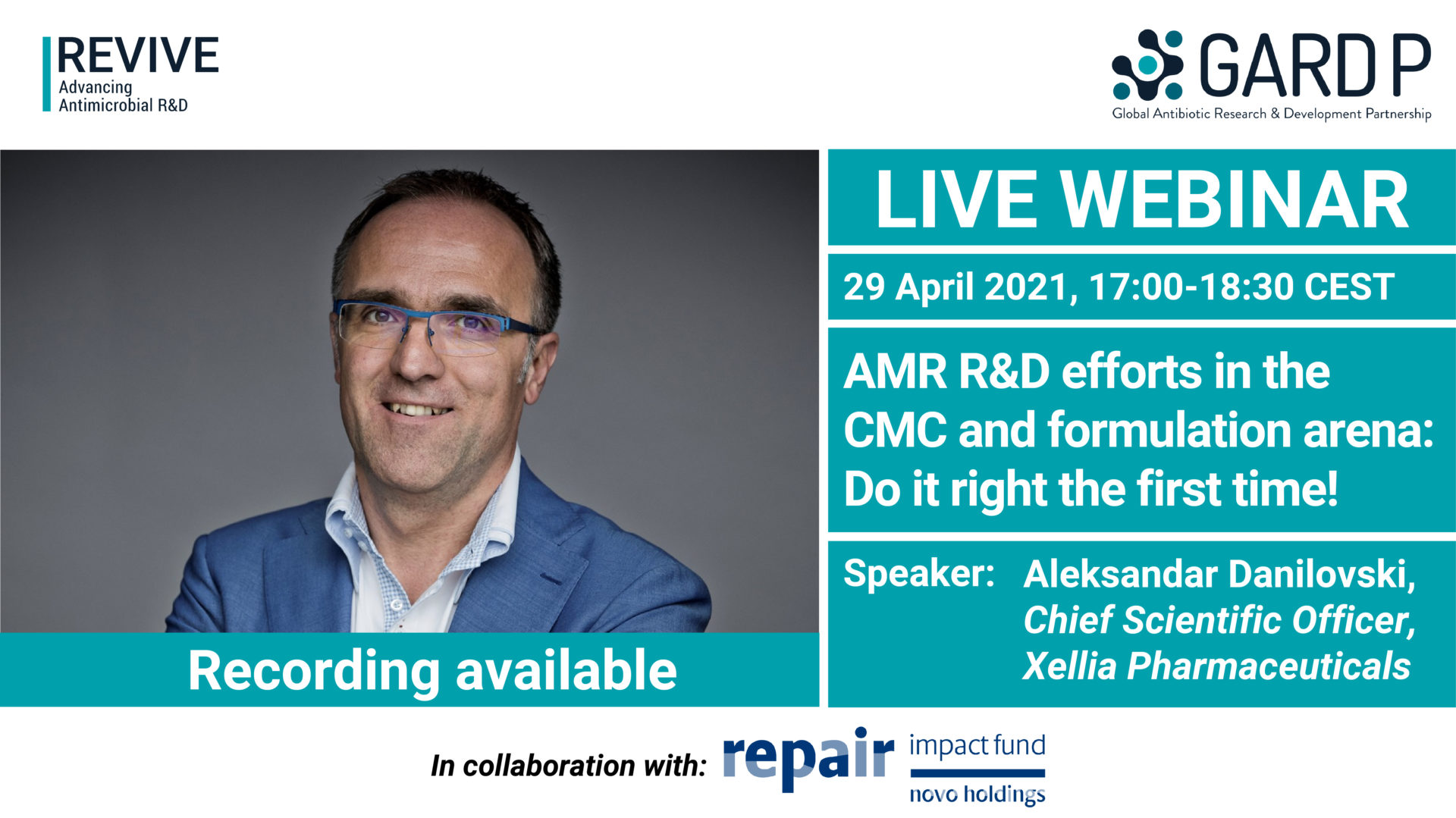 AMR R&D efforts in the CMC and formulation arena: Do it right the first time!