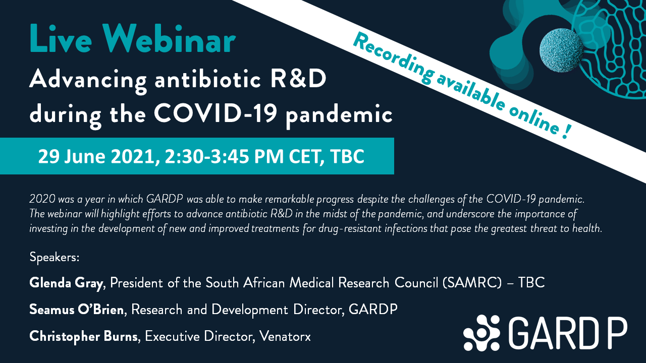 Advancing antibiotic R&D during the COVID-19 pandemic